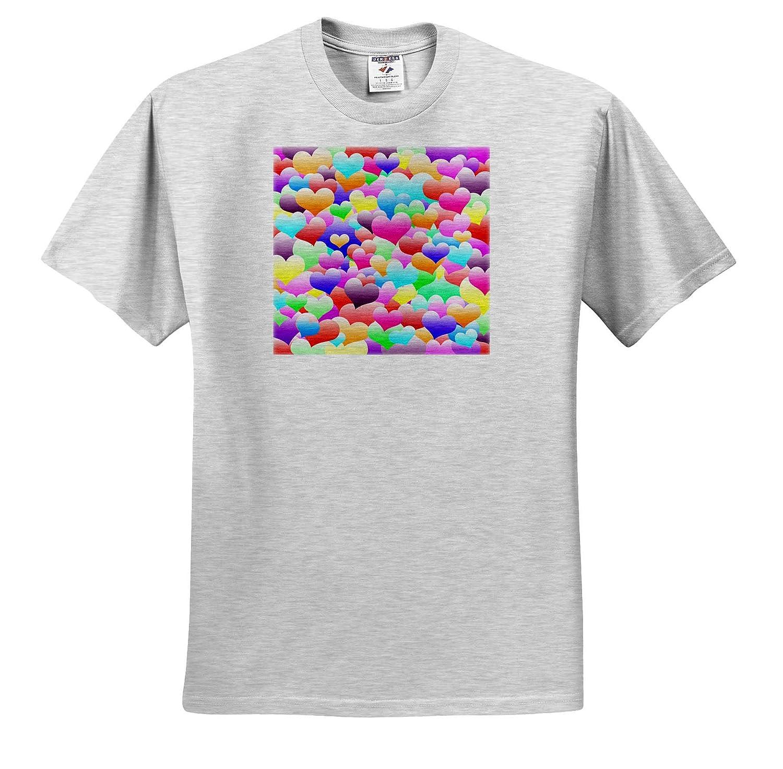 Lovely Bubble Hearts Pattern T-Shirts Design 3dRose BlakCircleGirl Bubble Hearts