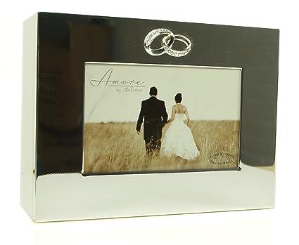 De la boda de la color plateado diseño de osos de peluche caja de almacenamiento con
