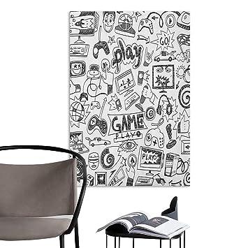 Amazon com: Jaydevn Wall Paintings self-Adhesive Video Games