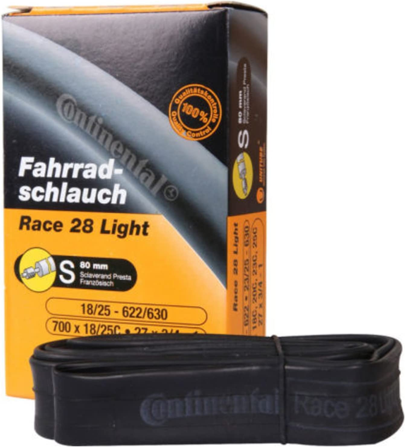 10 Continental Race Light 28 Tubes 700x18-25 Presta 80mm Valve Bike Tubes
