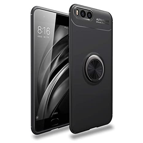 LUCKY Funda XiaoMi Mi6 Case, 360 Grados Caso Carcasa Case Cover Skin móviles telefonía Fundas Magnético Coche Kickstand Carcasa rotación Metal Anillo ...