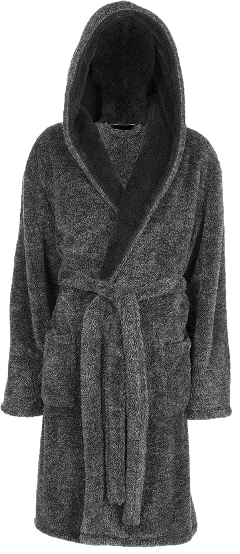 f3f78dd2f2 Mens Luxury Soft Comfy Fleece Dressing Gown Robe Nightwear  Amazon.co.uk   Clothing