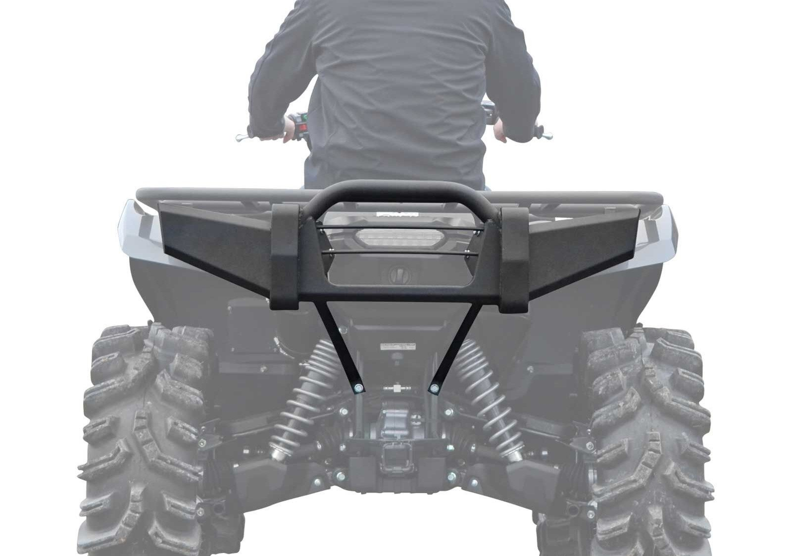 SuperATV Yamaha Grizzly 550 / 700 Heavy Duty Rear Bumper - Fits Years Up To 2015