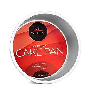 "Last Confection 7"" x 4"" Deep Round Aluminum Cake Pan - Professional Bakeware"