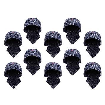 SM SunniMix 10 Unids Soldadores Azules Tipo de Pañuelo Protector Capucha Soldador Sombrero Casco de Soldadura: Amazon.es: Jardín