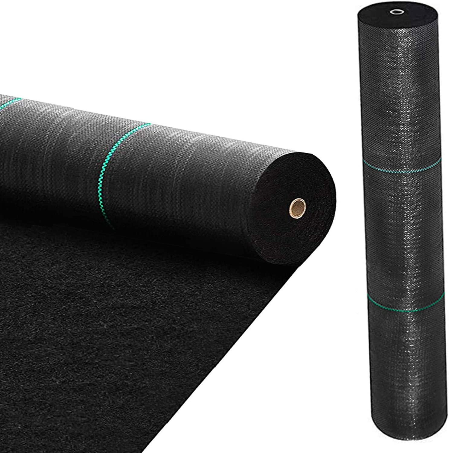 BOTINDO 5oz 3ft x 50ft Weed Barrier Landscape Fabric, Pro Garden Premium Heavy Duty Block Gardening Mat, Dual Layer Fabric Ground Cove Lawn Cloth, Weed Control for Landscaping Outdoor Driveway, Black