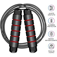 Kampo Jump Rope, Tangle-Free Rapid Speed Jumping Rope Cable with Ball Bearings for Women, Men, and Kids, Adjustable Steel Skipping Rope with Foam Handles for Gym Fitness, Home Exercise & Slim Body