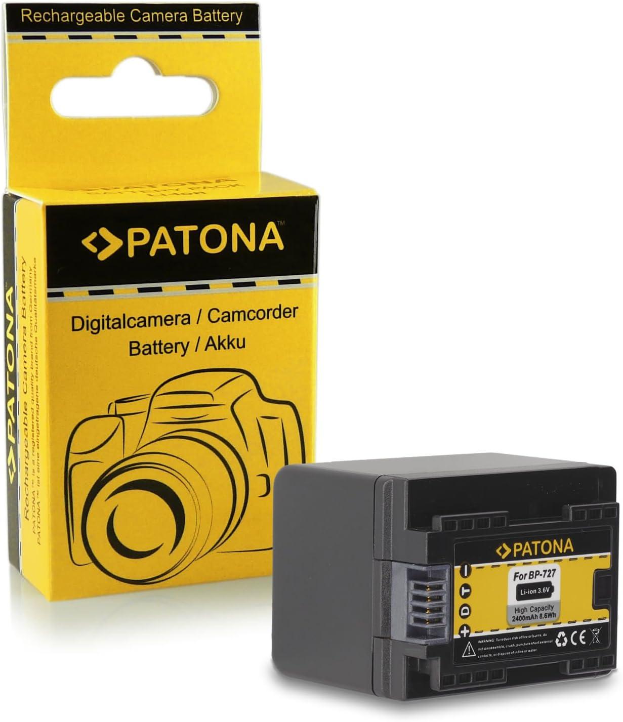 2x Batteria Patona caricabatteria casa//auto per Canon Legria HF R506,HF R56