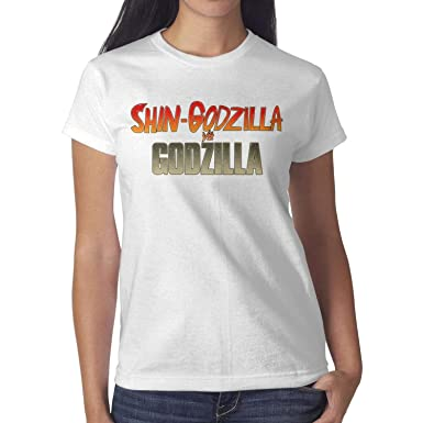 a5e73824 100% Cotton Women's Tshirt Short Sleeves SHIN-Godzilla- Round Neck ...