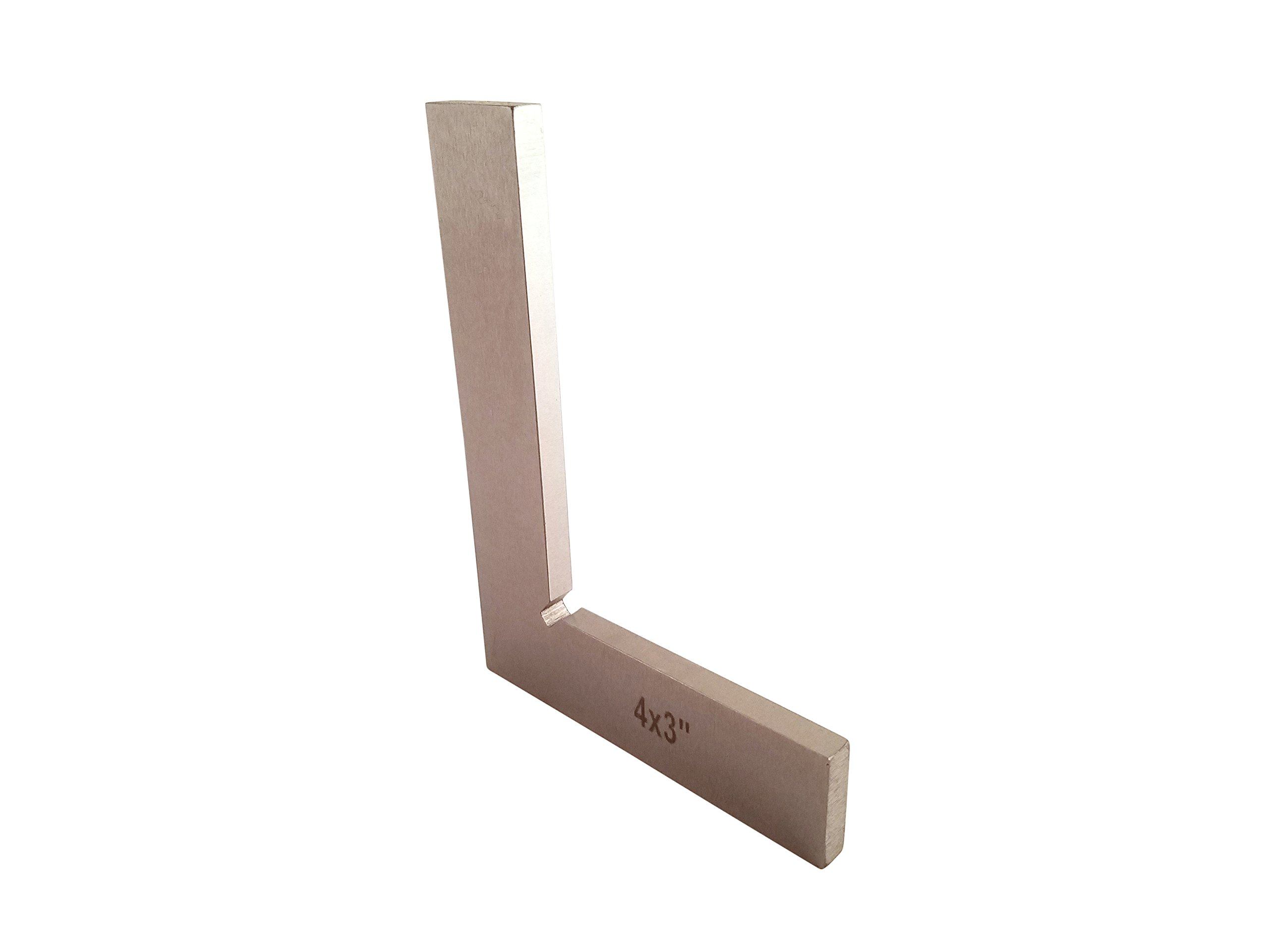 """Machinist Engineer Solid Square 4"""" x 3"""" x .220"""" Thick DIN 875/0 (Square w/in - 0.0003"""") Stainless TTWSS4"""