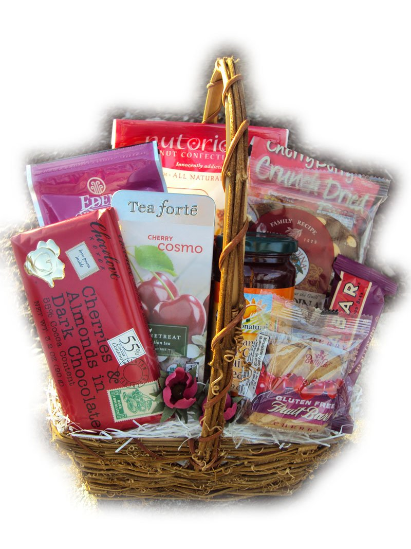 Healthy Fruit Basket - Cherry Deluxe by Well Baskets