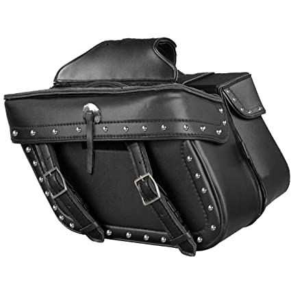 3af3dddec7 Amazon.com  Milwaukee Leather Zip Off PVC Studded Throw Over Saddlebags  with Double Strap F - One Size  Automotive