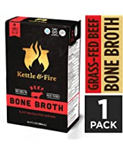 Bone Broths Kettle and Fire Gluten-Free Paleo Beef Bone Broth, 1 - 17.6 Ounce Carton