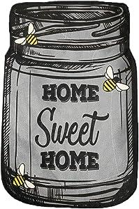 "Briarwood Lane Home Sweet Home Mason Jar Burlap House Flag Bees Double-Sided 28"" x 40"""