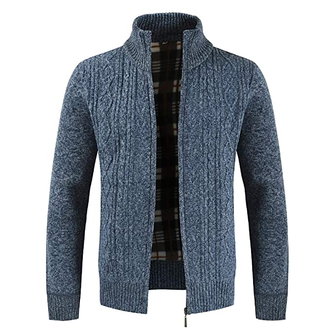ZODOF Chaqueta de Hombre Mens Winter Zipper Outwear Tops ...