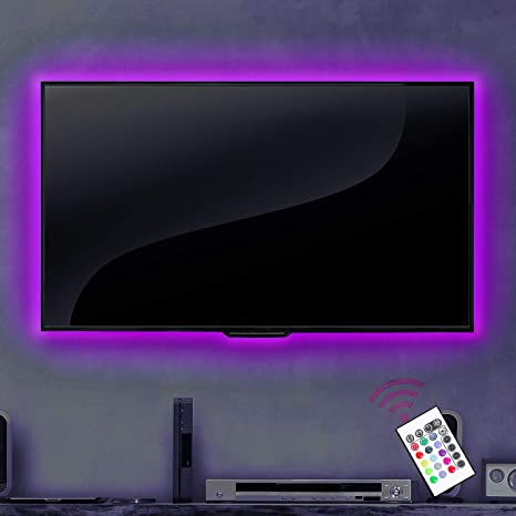 Storslået Amazon.com : FRONTEC TV Bias Lighting USB Powered LED Light Strip GL87