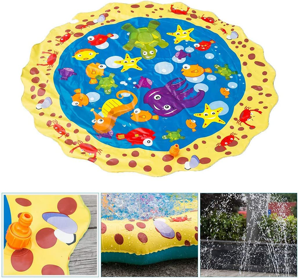 ONERIOME Summer Children Play Toy Inflatable Outdoor Water Spray Mat Sprinkler Cushion Beach Toys