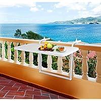 Askılı Balkon Masası, Katlanabilir Masa 40x80 CM-Kaliteli Malzeme