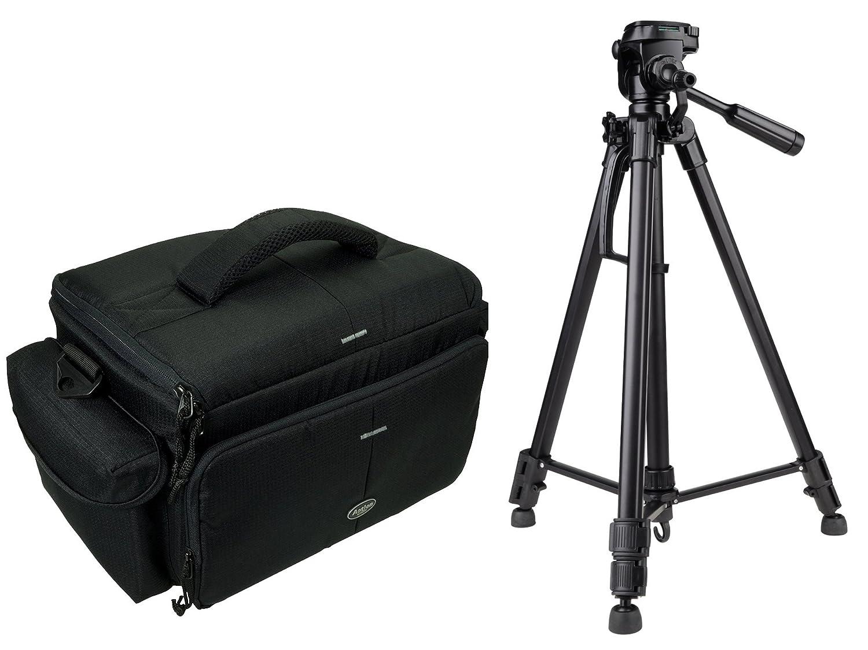 写真とビデオの三脚で設定2ケースアクセサリー用デフレクターカメラケースアクションブラック   B01N1QWRBN