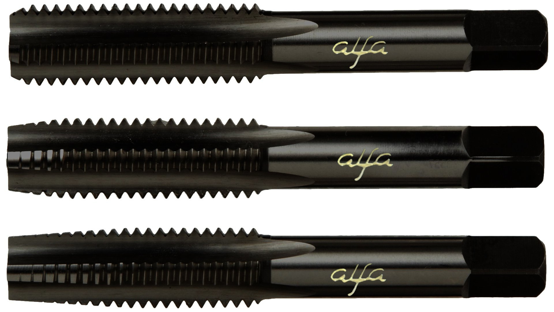 Alfa Tools HTS80034 3/8-16 Hss Black Oxide Alfa Hand Tap Set Made In USA, by Alfa Tools