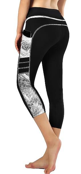 b09f20a0d2 ... Women Capri Cropped Leggings Yoga Pants for Gym Fitness Workout Wear ...