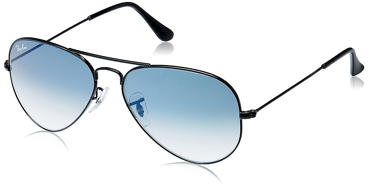 ray ban aviator black indian price