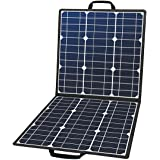 50W 18V Portable Solar Panel, Flashfish Foldable Solar Charger with 5V USB 18V DC Output Compatible with Portable Generator,
