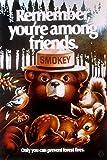 Smokey Bear - Remember You're Among Friends - Vintage Poster (9x12 Art Print, Wall Decor Travel Poster)