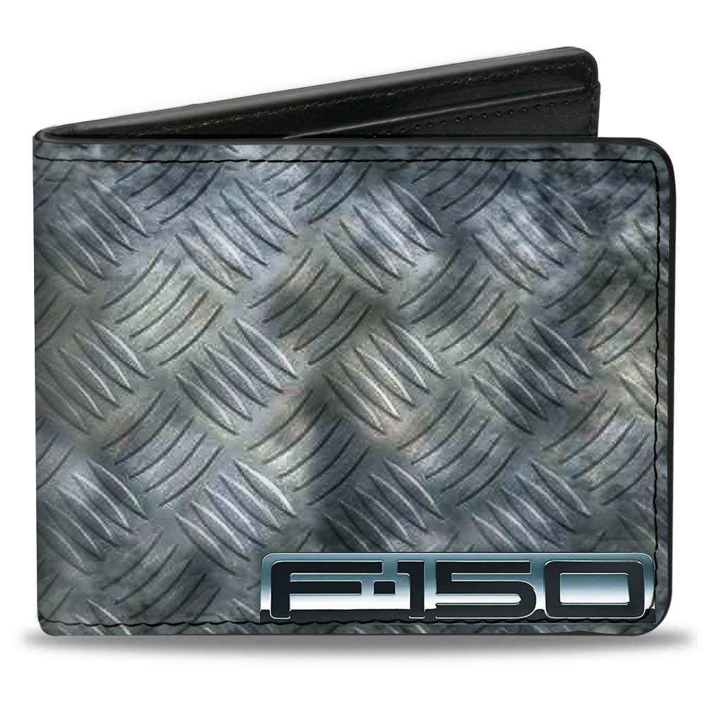 Bi-Fold Wallet - F-150 + Ford Truck/Checker Metal Diamond Plate Buckle-Down PUW-FTH