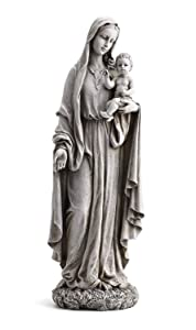 "23"" Our Lady of Grace and Baby Jesus Garden Statue"