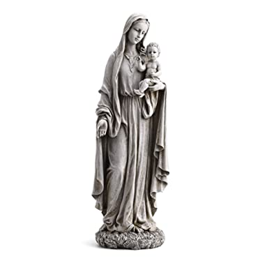 23  Our Lady of Grace and Baby Jesus Garden Statue
