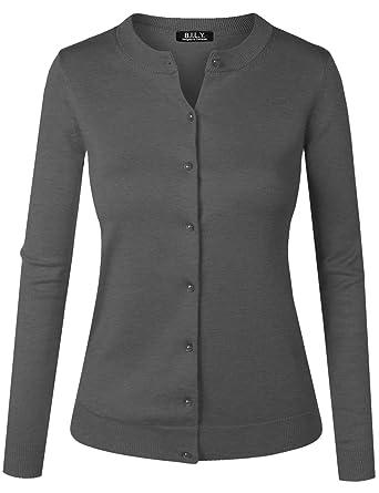 7164f2821d BH B.I.L.Y USA Women s Unique Button Long Sleeve Soft Knit Cardigan Sweater