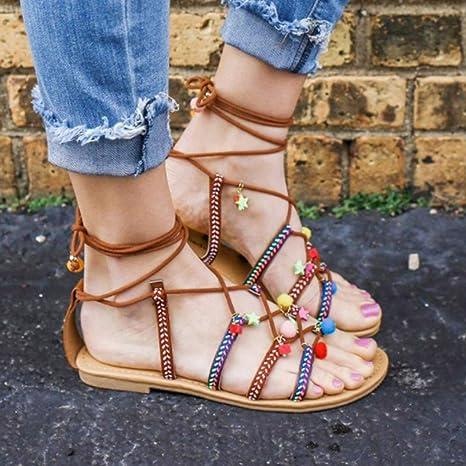 4dbffaf0c6fa4 Amazon.com  Clearance Hot Sale! ❤ Bohemia Womens Sandals Open Toe ...