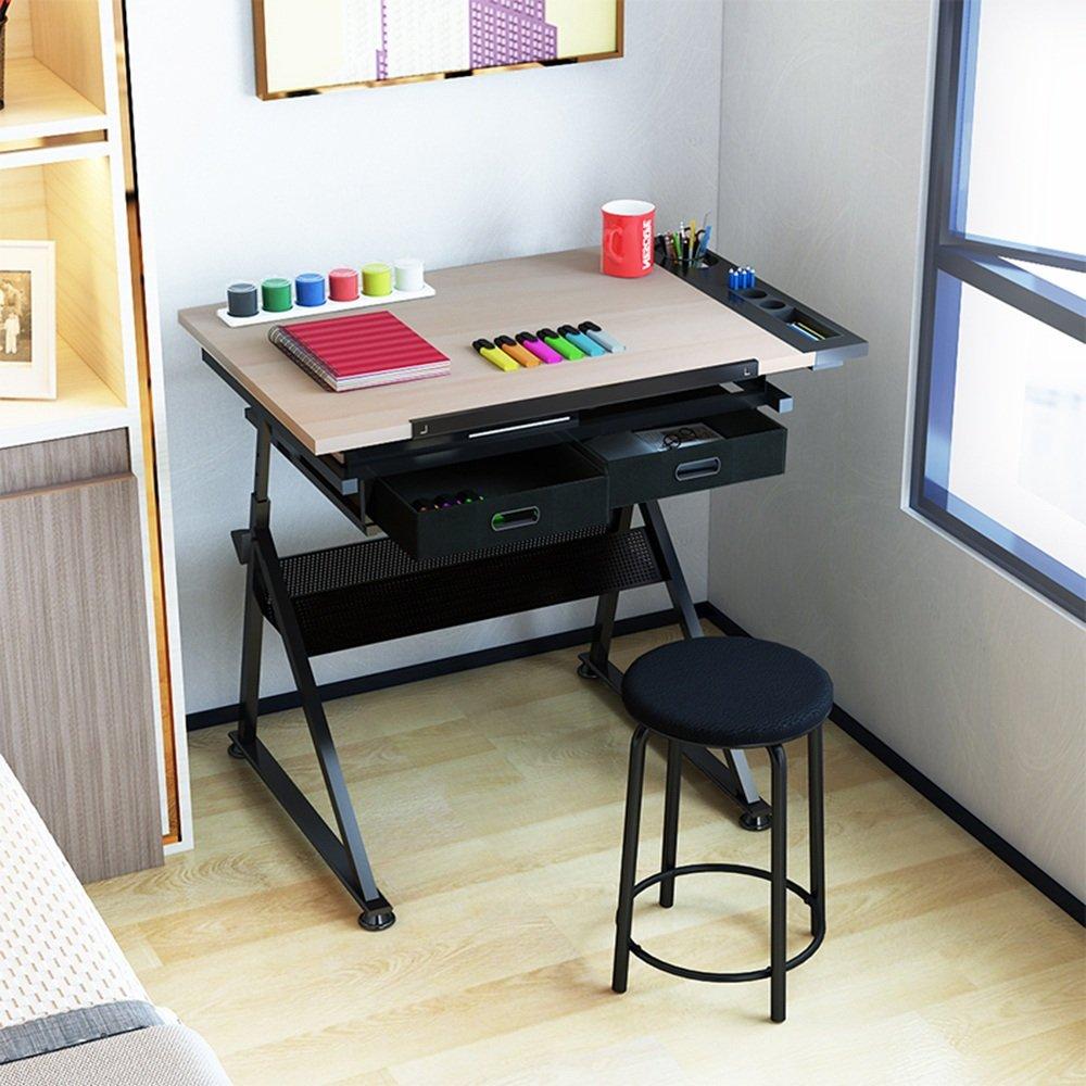 調節可能な 折りたたみ式のテーブルの子供は、絵のテーブルを持ち上げます。多機能イーゼルテーブルテーブルと椅子のセットは、黒い96 * 68センチメートル 回転することができます