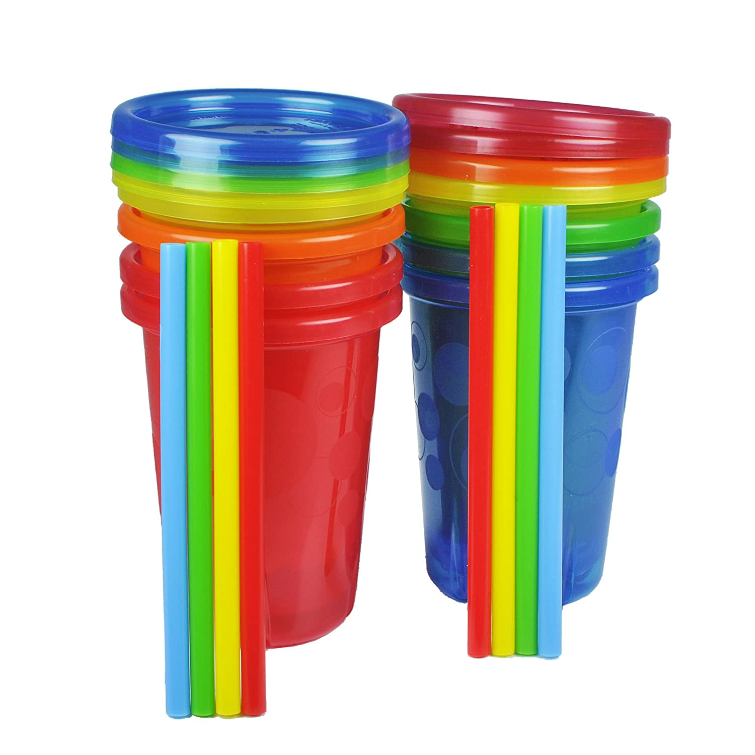 The First Years Take and Toss Straw Cup, 10-Ounce, 8 Pack Y6124