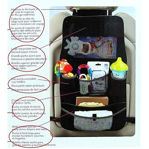 Amazon.com: Prettyia Car Seat Bag Storage Car Covers Back Seat Organizer Auto Multi Holder Black: Baby