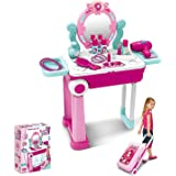 CORPER TOYS おままごと お化粧ドレッサー おもちゃ スーツケース形 姫系 お化粧セット 女の子 メイクアップ コスメティック
