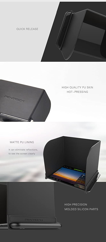 Mulong PGYTECH for DJI Mavic Pro DJI Osmo Phantom 4//3 Remote Control Sunshade Hood Controller Monitor Sun Hood for 9.7 inch PAD L200