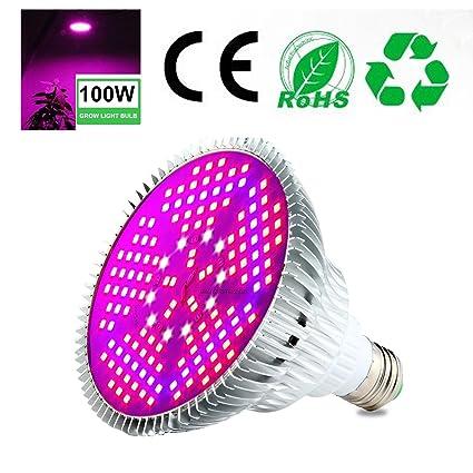 Pawaca 100W LED Lampadina Per Piante A Spettro Completo Lampada Per Piante  Da Interno Adatta A