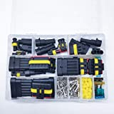 240Pcs/Pack Waterproof Car Motorcycle Auto Electrical Wire Connector Plug Kit Terminal Assortment 1 2 3 4 5 6 Pin Way…