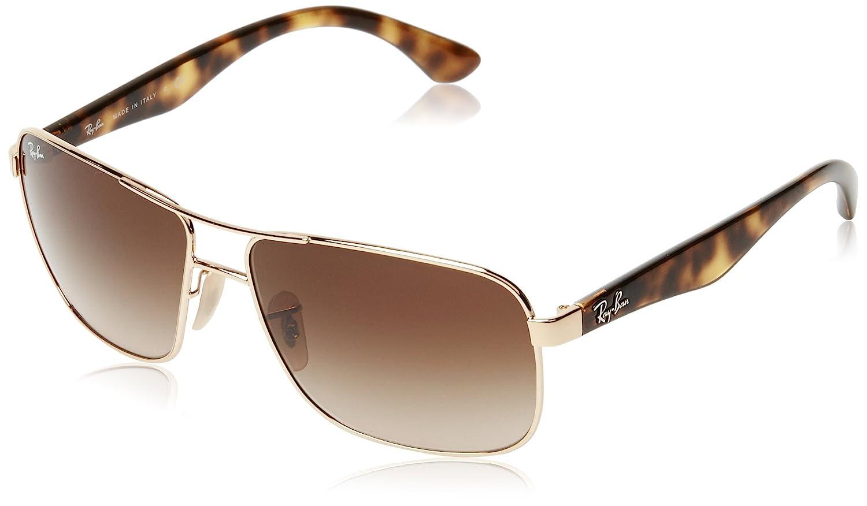 Ray-Ban Unisex Sonnenbrille RB3516, ORB3516 Grau (Gestell: Gunmetal, Gläser: Grün Klassisch 004/71), Large (Herstellergröße: 62)