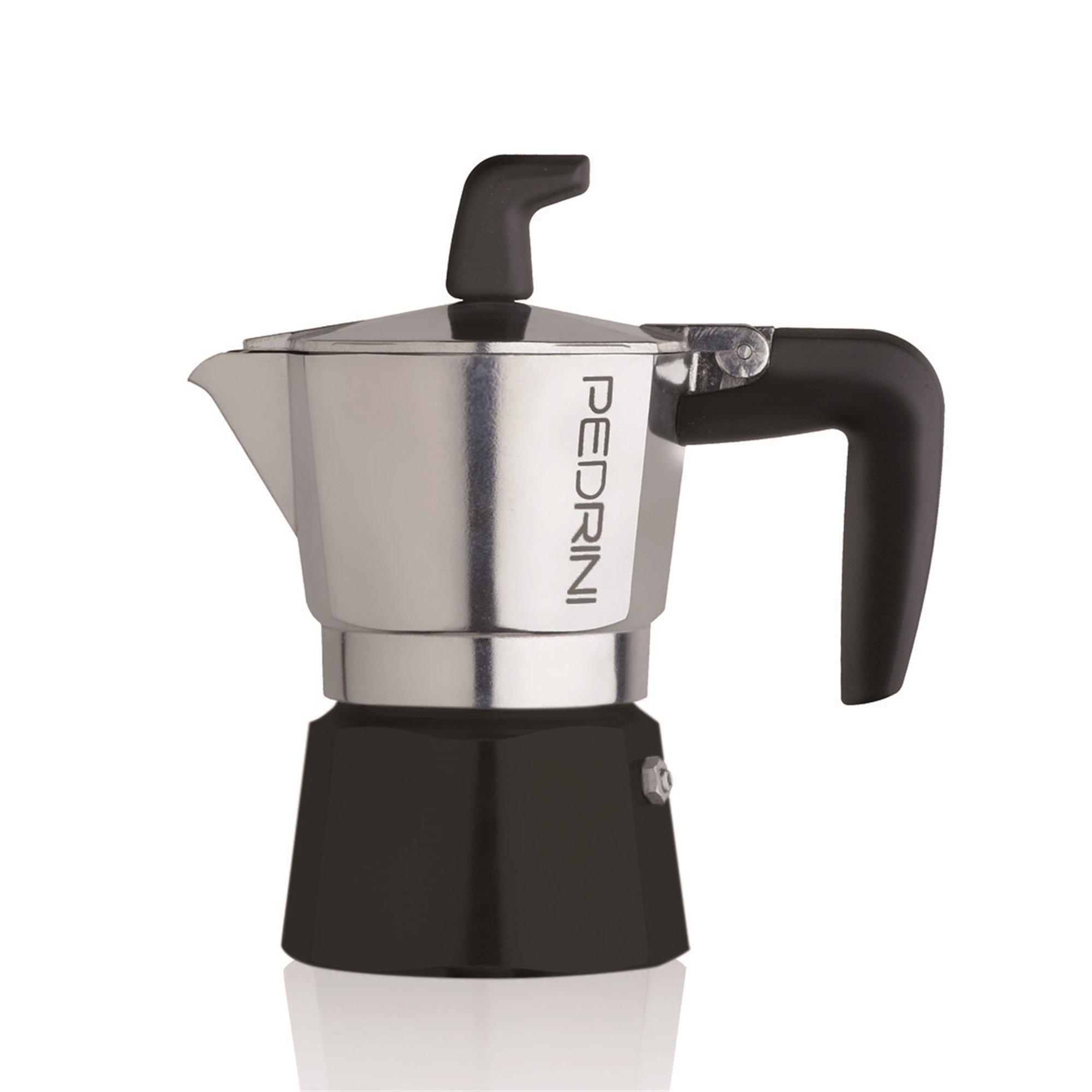 Pedrini: Sei Moka 2 Cups Espresso Coffee Pot, Polished Aluminium