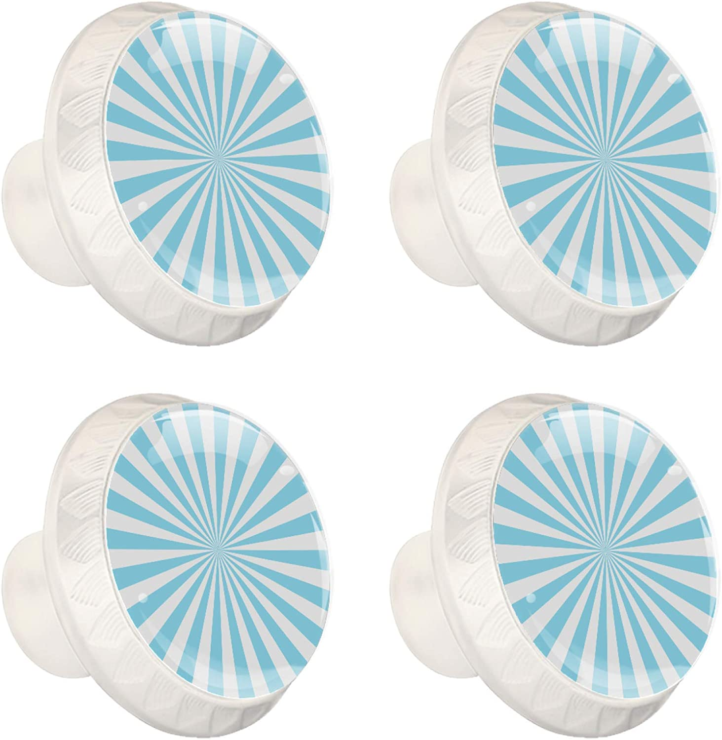 4 Cabinet Knobs for Dresser Drawers Cabinet Handles Pulls for Home Office Cupboard White Blue line