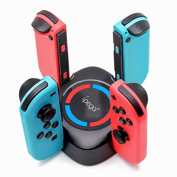 Amazon.com: Cargador de mando para Nintendo Switch, 4 en 1 ...