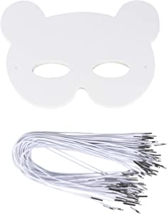 Juvale DIY Mask - 48-Pack Blank Masquerade Mask for Costume Party