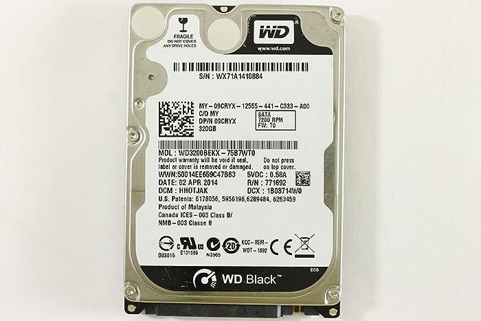 "Dell 9CRYX WD3200BEKX-75B7WT0 2.5"" SATA 320GB 7200 Western Digital Laptop Hard Drive Latitude E6330"