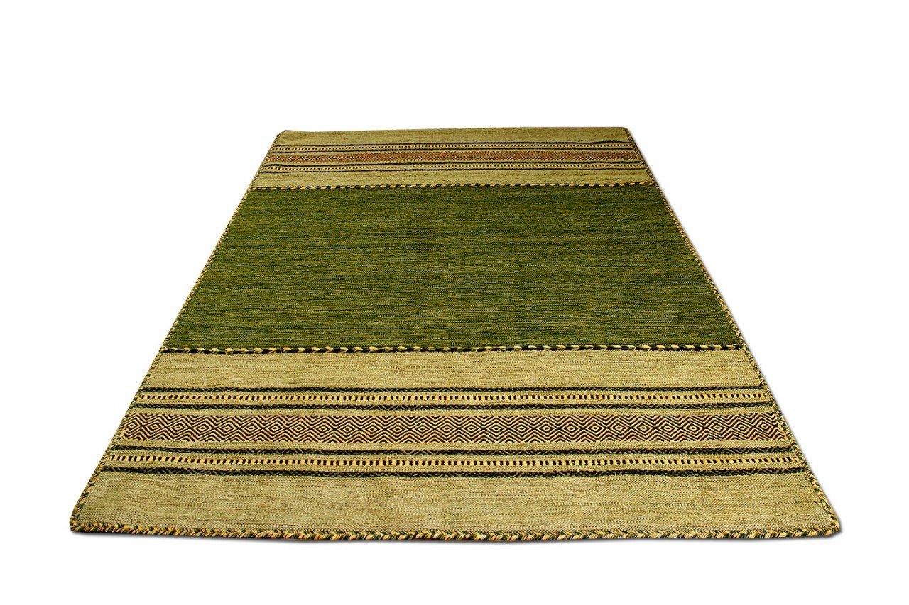 Navarro Natur Teppich Bauwolle Kelim Grün in 5 Größen Größen Größen 90814b