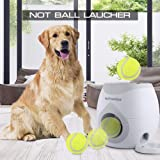 4pawslife Automatic Dog Feeder, Interactive Dog Ball Fetch and Treat Dispenser Treat Toy Tennis Ball Reward Machine for…