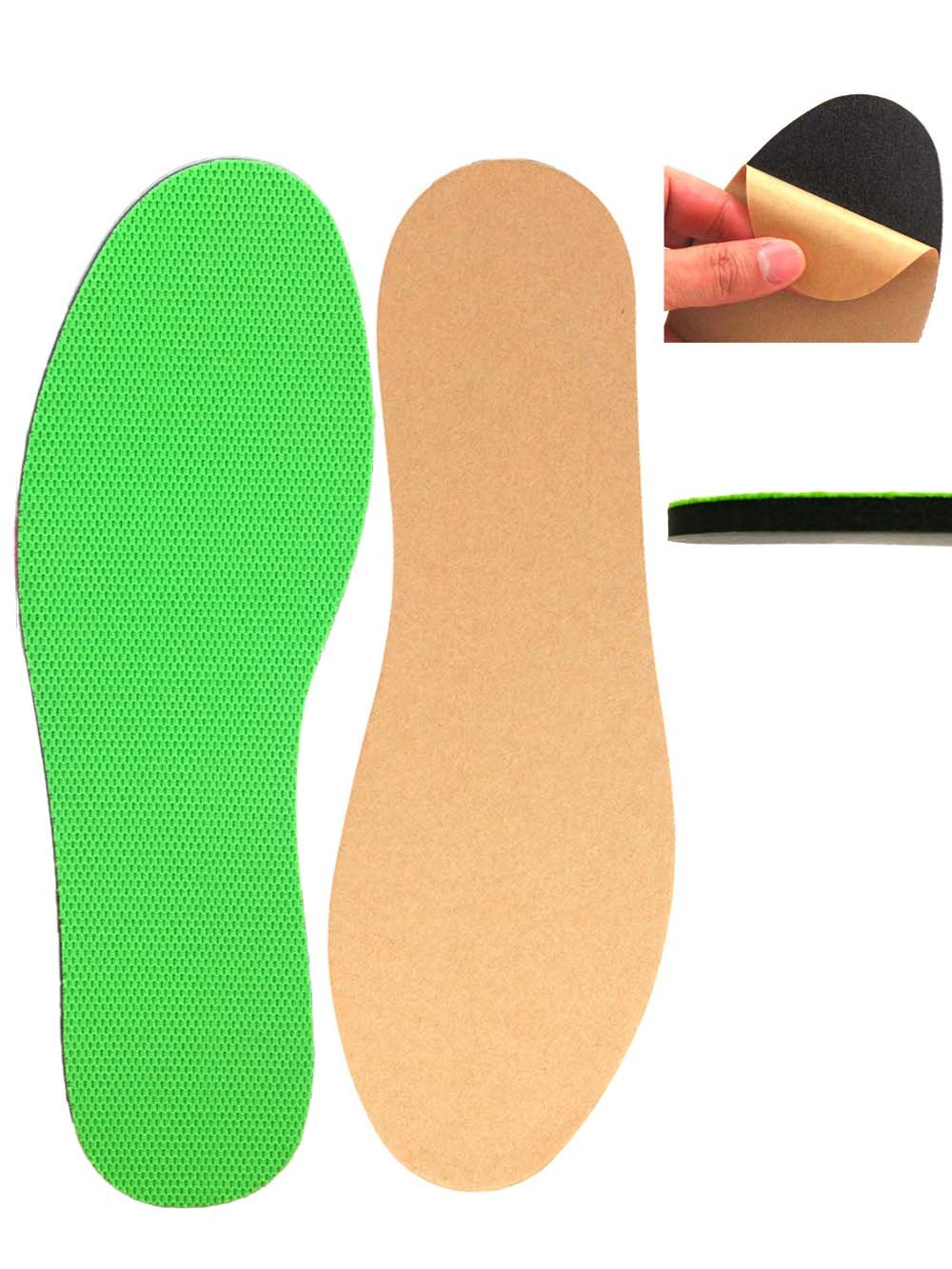 Adhesive Sockless Shoes Insoles that Absorb Sweat and always Stay in place for Sandals, High heels, Mules, Flip Flops (Women's 9.5-10, Men's 8-8.5(255mm Green))
