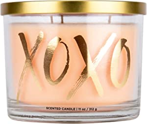"""Aromascape PT41469 """"XOXO"""" 3-Wick Scented Candle (Jasmine, Rose Petals and Wild Berry), 11-Ounce"""